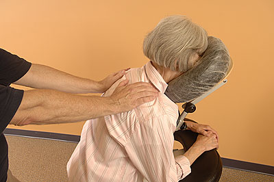 Image of therapeutic chair massage